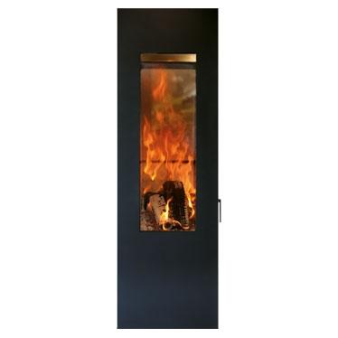 Печь камин Concerpt Feuer Matrix черная, поворотная