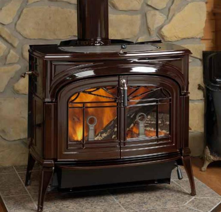 Печь камин Vermont Castings Defiant 2 in 1 коричневая эмаль