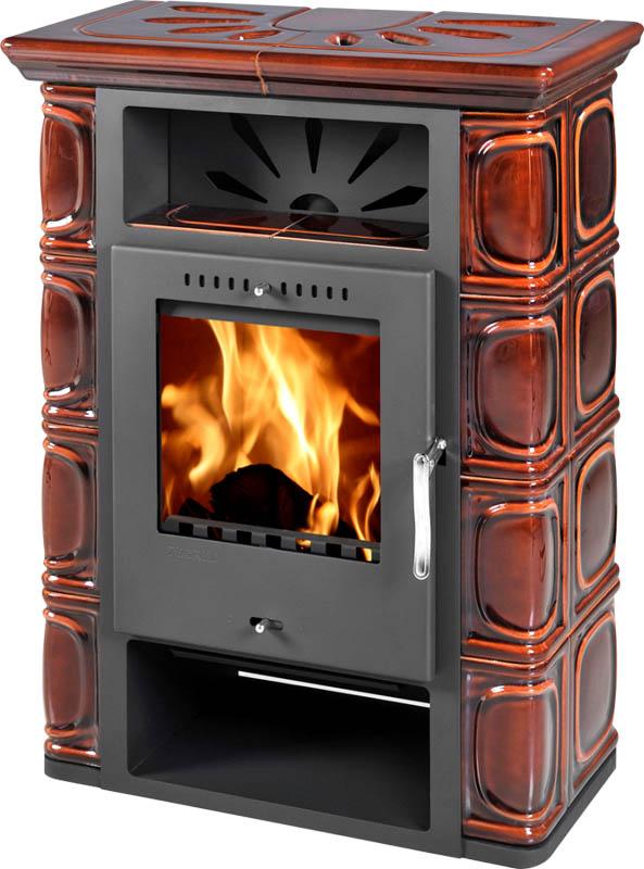 Печь отопительная Thorma Borgholm (Keramik Top коричневая)