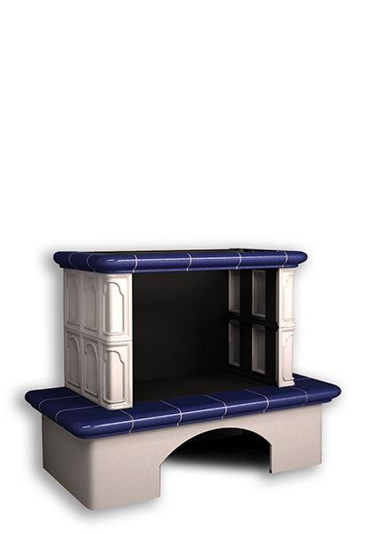 Облицовка камина КимрПечь Гефест без короба кобальт/олива/шоколад/вишня или волна без топки