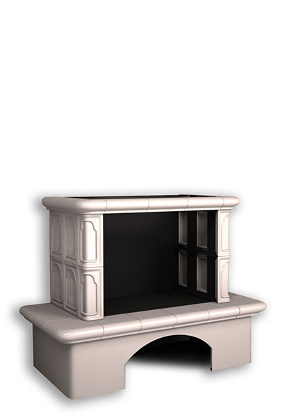 Облицовка камина КимрПечь Гефест без короба белый/ваниль без топки