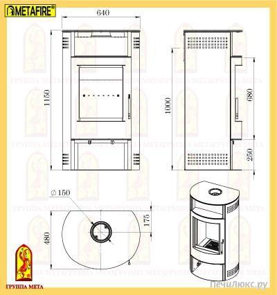 """Печь-камин  """"Байкал """" обладает высокой эффективность и надежностью.  В печи-камине есть регулируемый дожиг вторичных..."""
