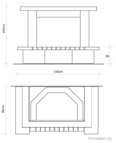 схемы облицовки камина кирпичом - Нужные схемы и описания для всех.