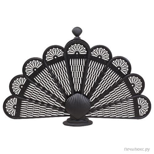 Каминный экран RGR C01911BK подходит как декоративное украшение, так и полноценная защита от углей и искр из...