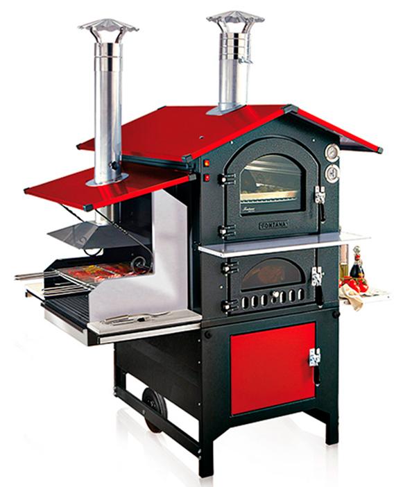 Печь - барбекю с духовкой Rosso Combi 80х54 / Россо Комби 80х54