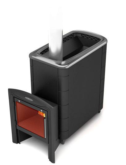 Банная печь Термофор Тунгуска XXL 2013 Carbon Витра антрацит