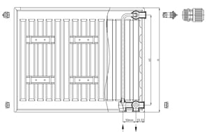 Нижняя подводка, встроенный терморегулятор