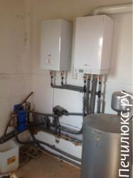 Монтаж котлов и систем водяного отопления